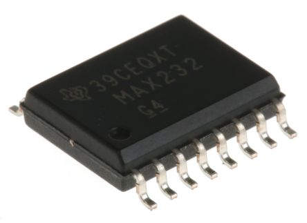 Texas Instruments MAX232DW, Line Transceiver, RS-232 2-TX 2-RX, 5 V, 16-Pin SOIC (5)