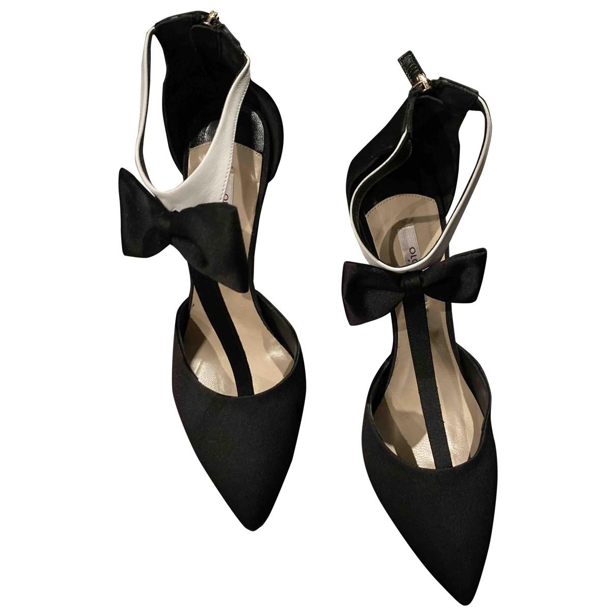 Olgana \N Black Cloth Heels for Women 39 EU
