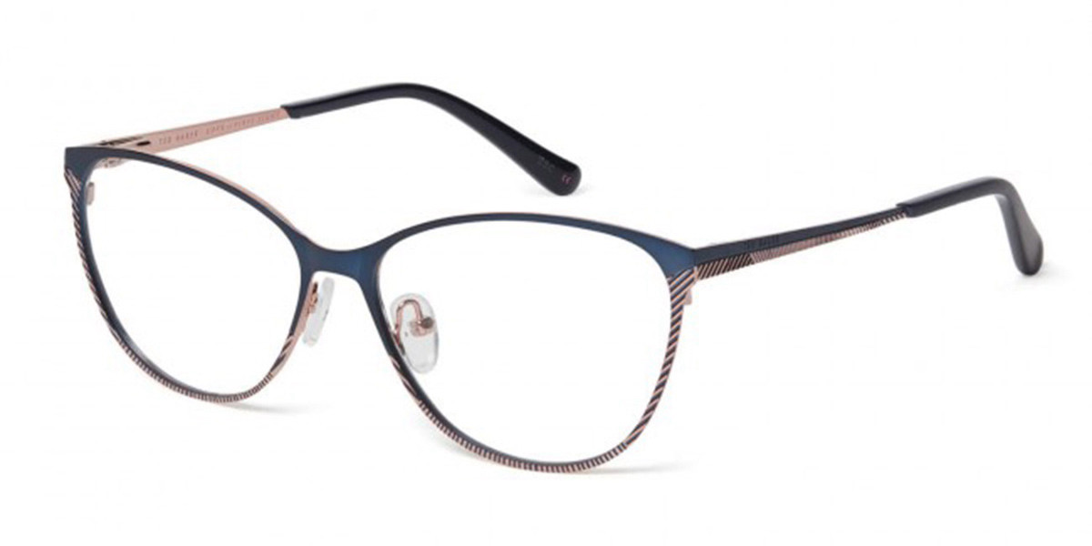 Ted Baker TB2239 Hazel 682 Women's Glasses Blue Size 56 - Free Lenses - HSA/FSA Insurance - Blue Light Block Available