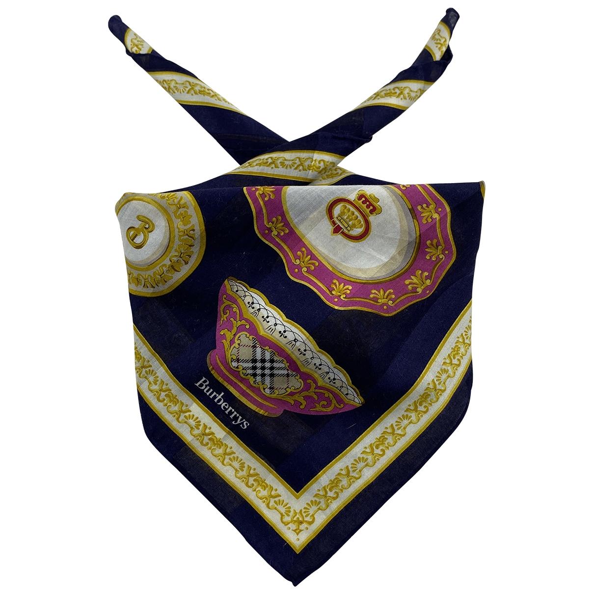 Burberry - Foulard   pour femme en coton - multicolore