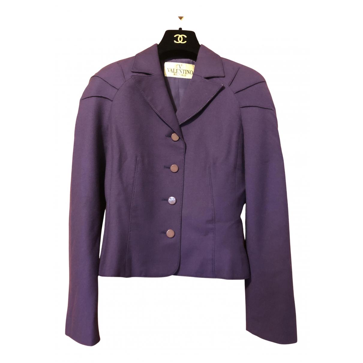 Valentino Garavani - Veste   pour femme en laine - violet