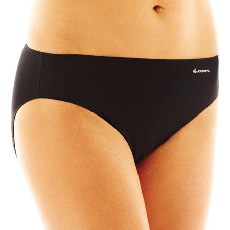 Jockey No Panty Line Promise Microfiber Bikini Panty 1370, 7 , Black