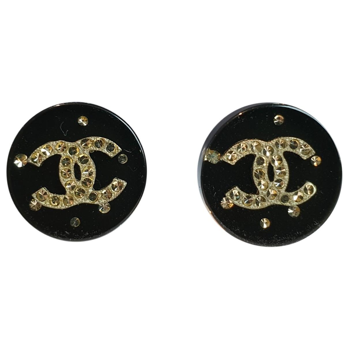 Chanel - Boucles doreilles CC pour femme - noir