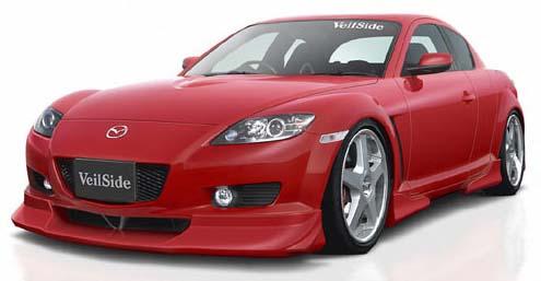 VeilSide 2003-2008 Mazda RX8 SE3P Ver. I Side Under Wing (Urethane)