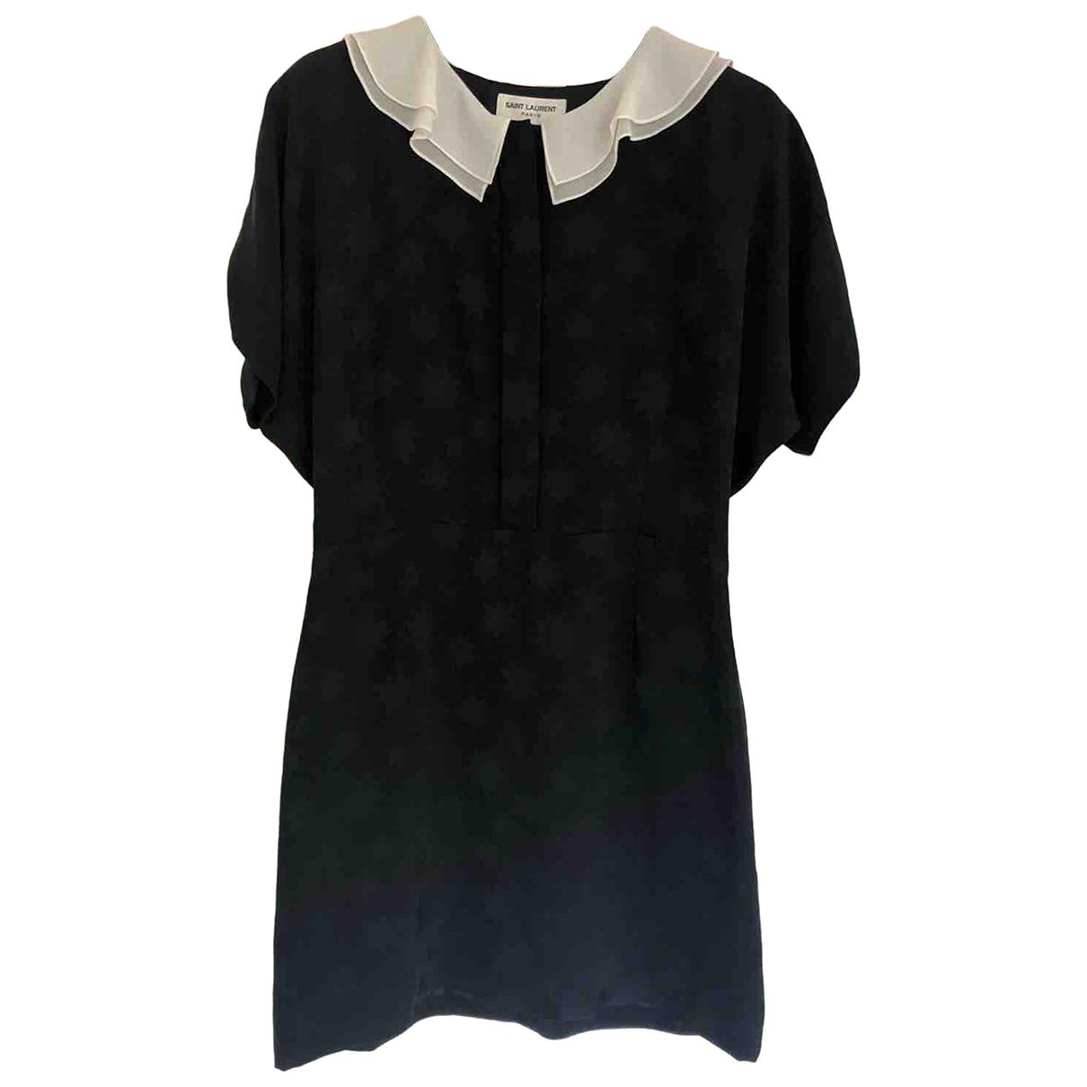 Mini vestido de Seda Saint Laurent