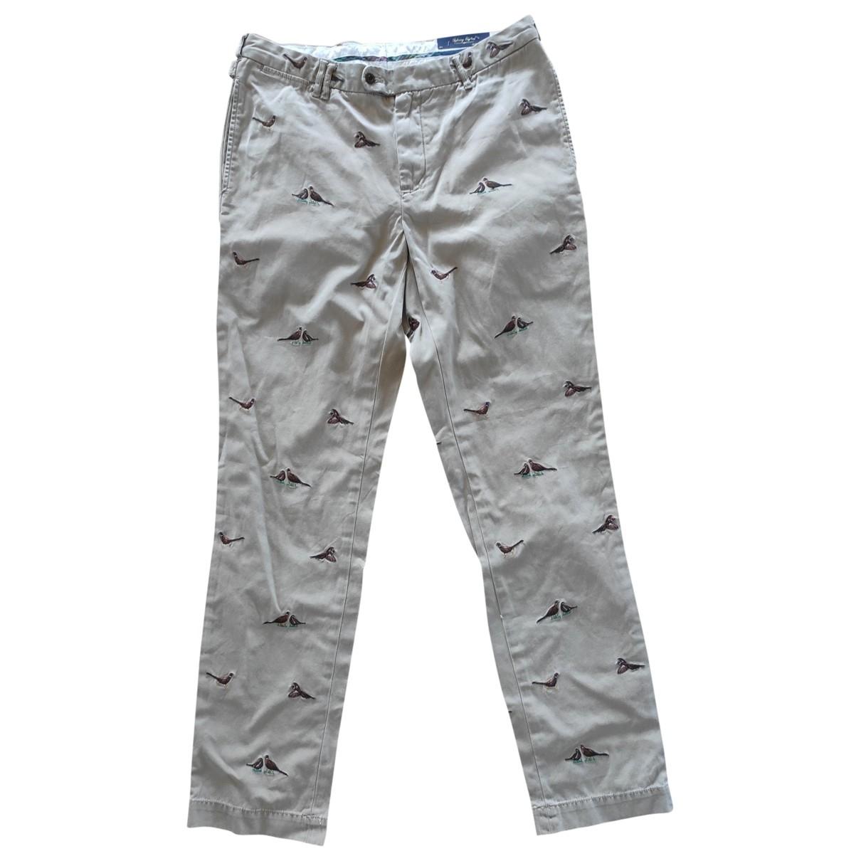 Polo Ralph Lauren \N Camel Cotton Trousers for Men 34 UK - US