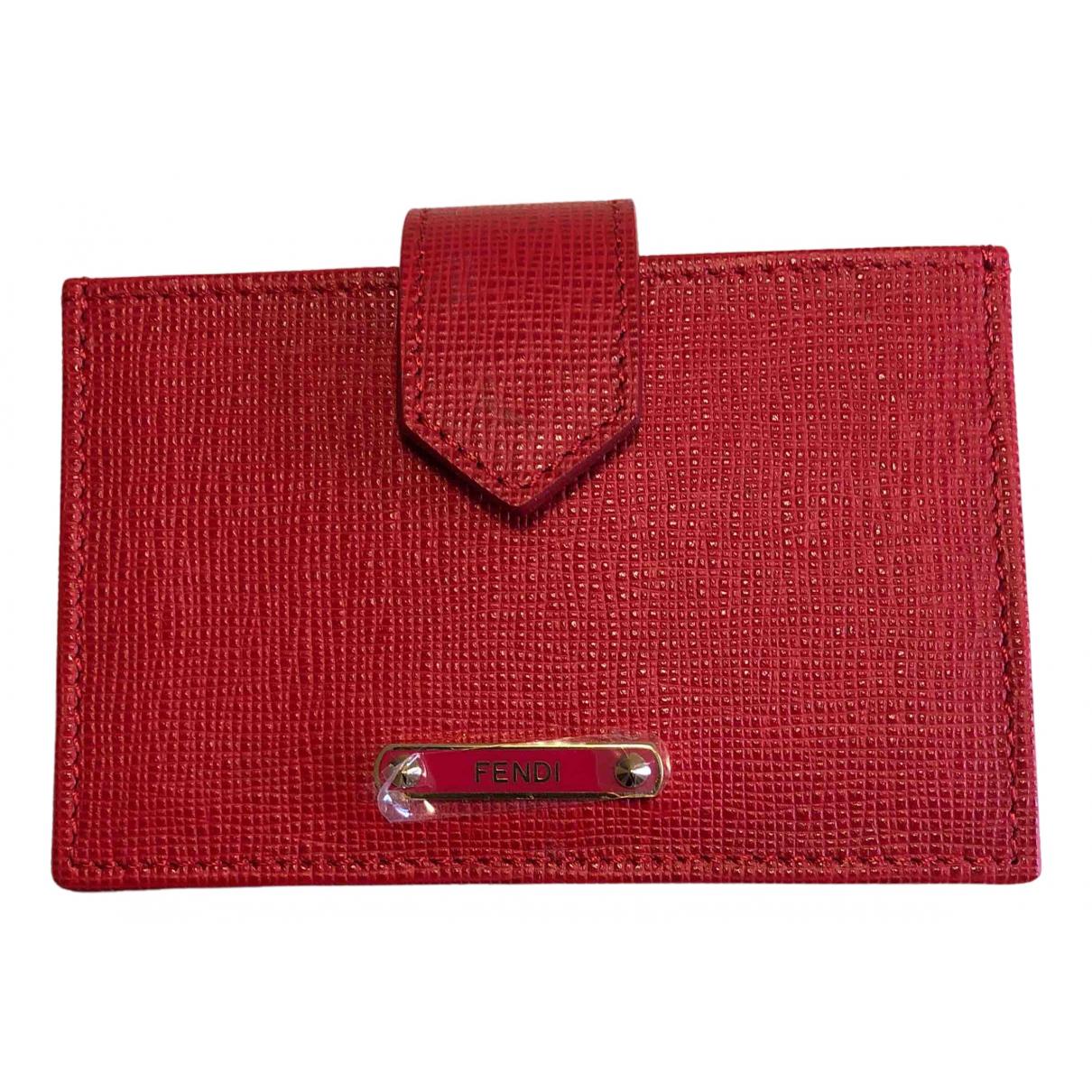Fendi - Petite maroquinerie   pour femme en cuir - rouge
