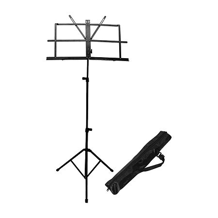 ChromaCast Folding Music Stand with Carry Bag, One Size , Black