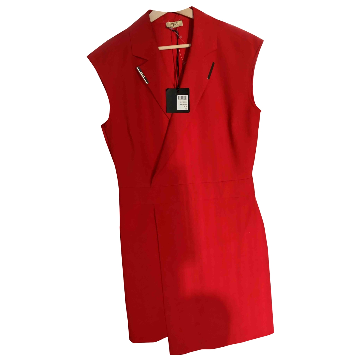 Liu.jo \N Kleid in  Rot Baumwolle