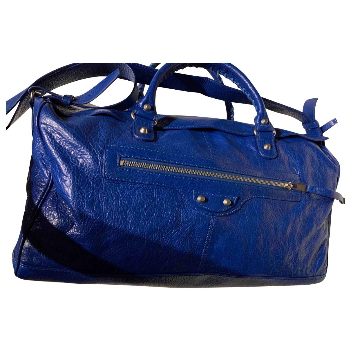 Balenciaga \N Blue Leather bag for Men \N