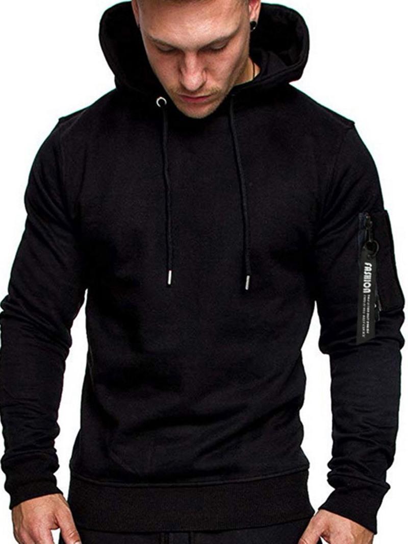 Ericdress Cardigan Patchwork Color Block Pullover Men's Loose Hoodies