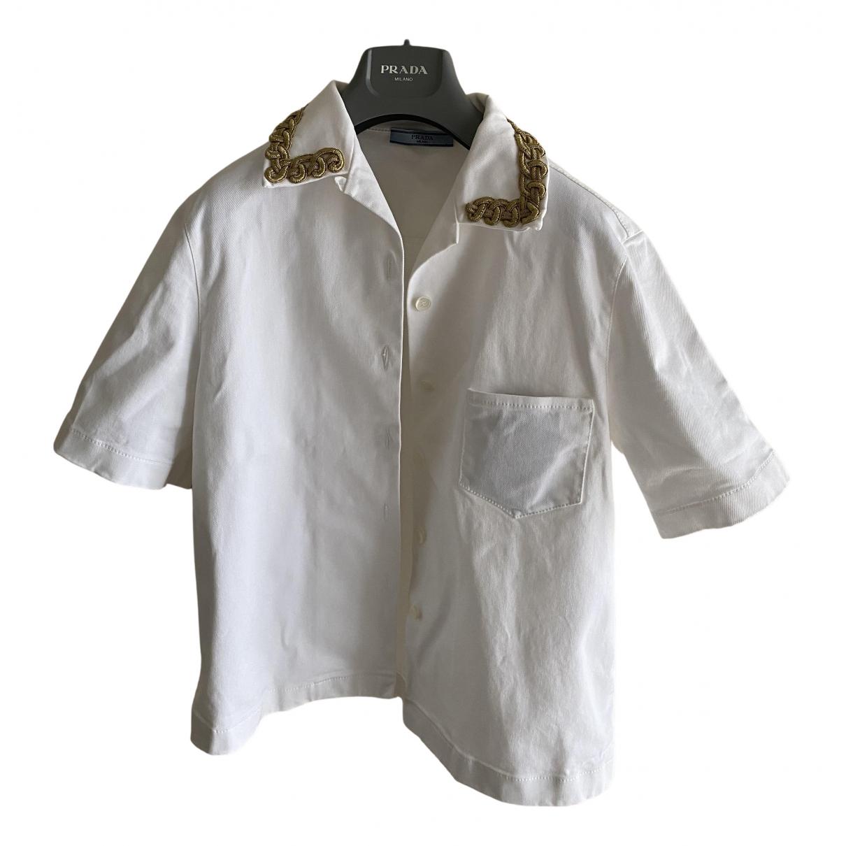Prada N White Cotton  top for Women 42 IT