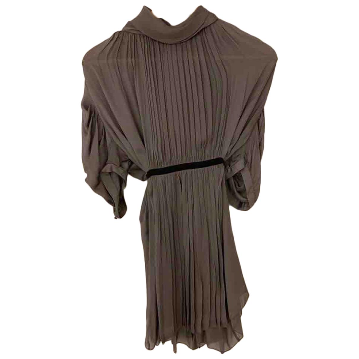 Prada N Grey Silk dress for Women 44 FR