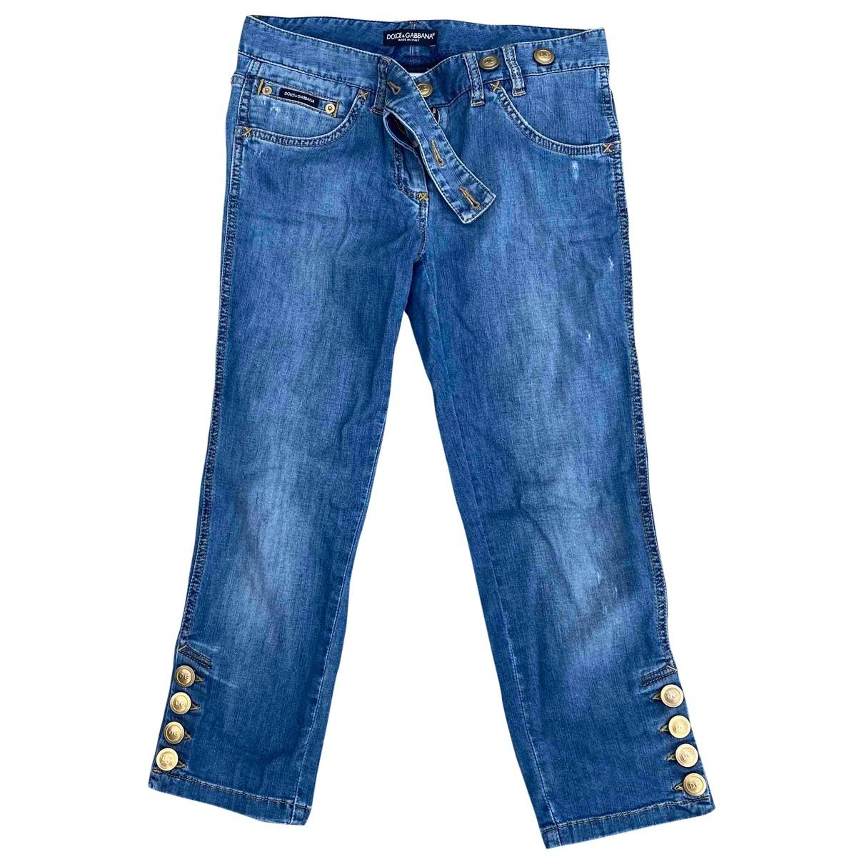 Dolce & Gabbana \N Blue Cotton - elasthane Jeans for Women 36 FR