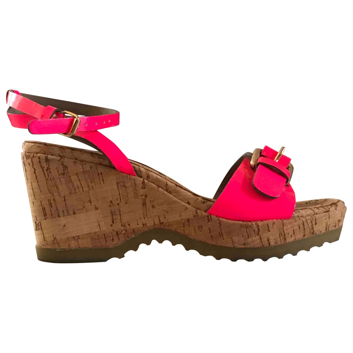 Stella Mccartney \N Pink Patent leather Sandals for Women 35 EU