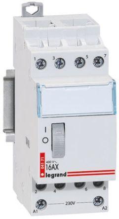 Legrand Contactor - 16 A, 230 V ac Coil
