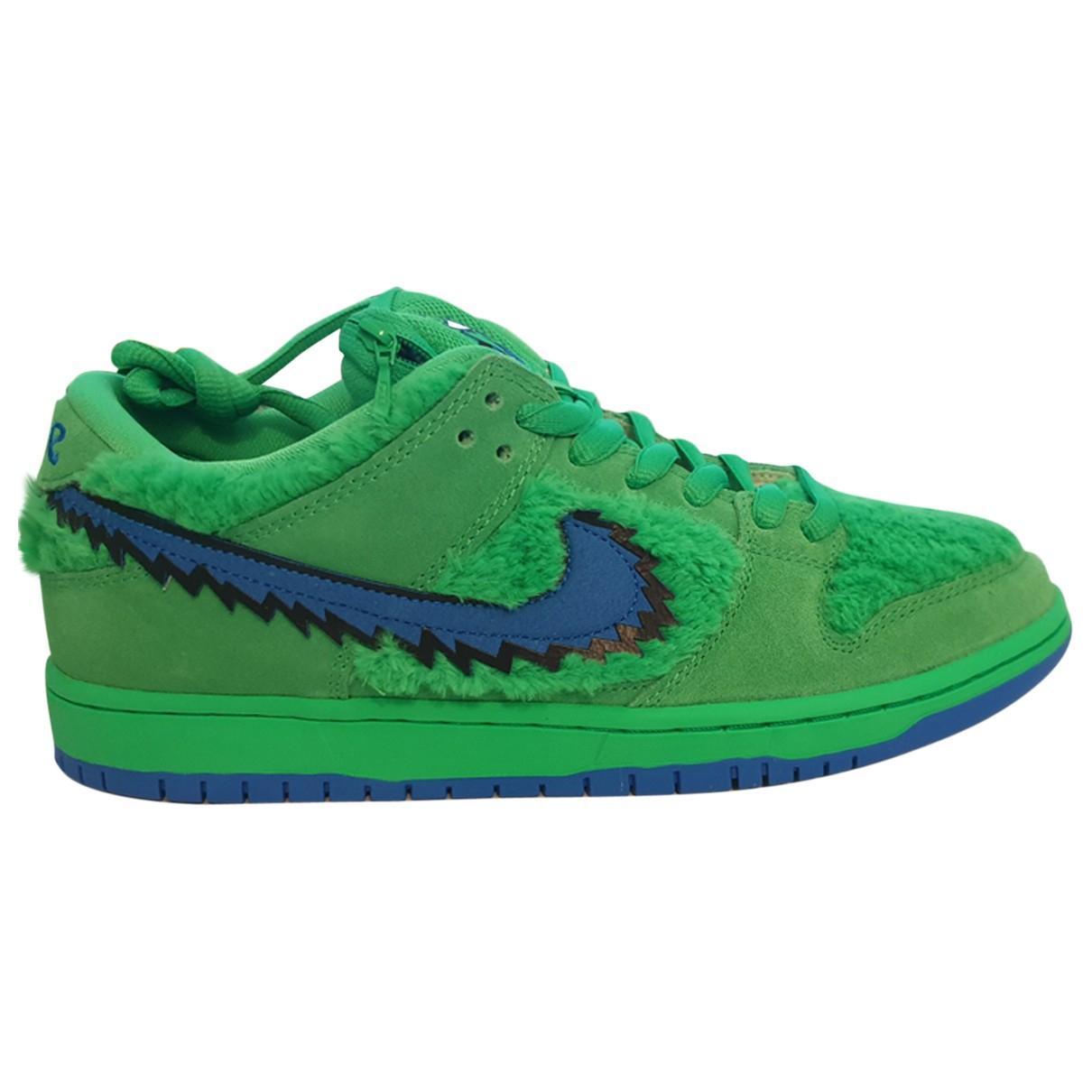 Nike - Baskets SB Dunk  pour homme en suede - vert