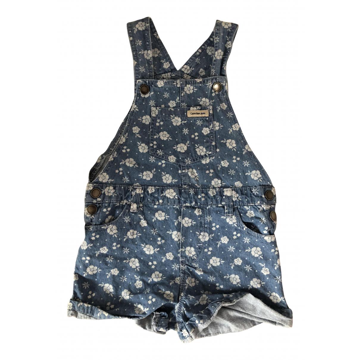 Calvin Klein - Short   pour enfant en denim - bleu