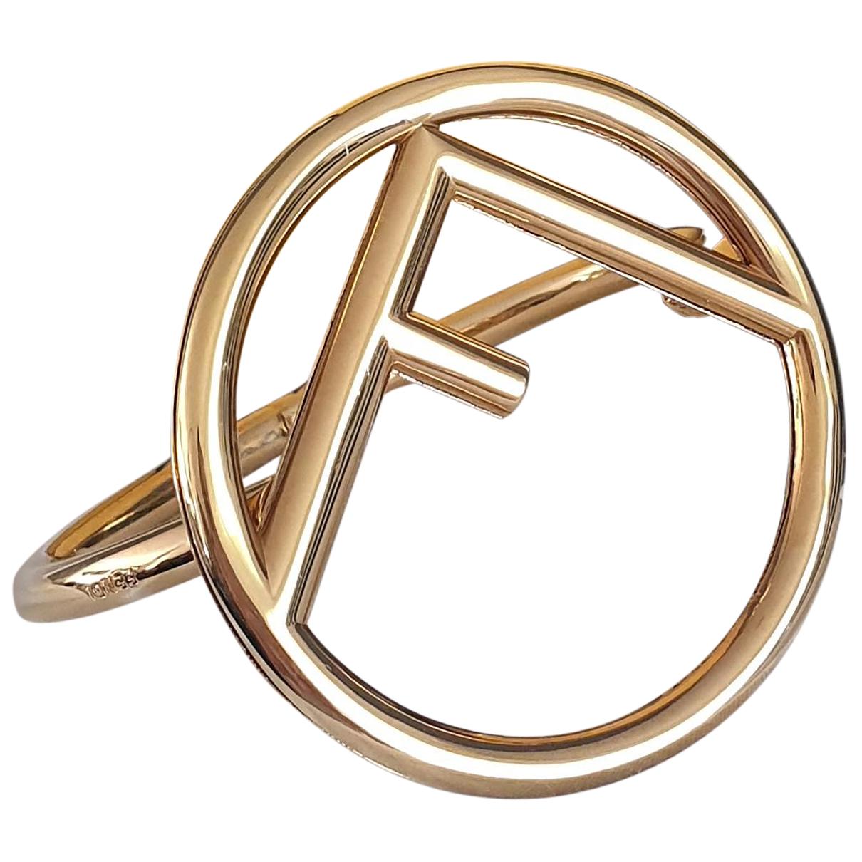Fendi - Bracelet The Fendista pour femme en metal - dore