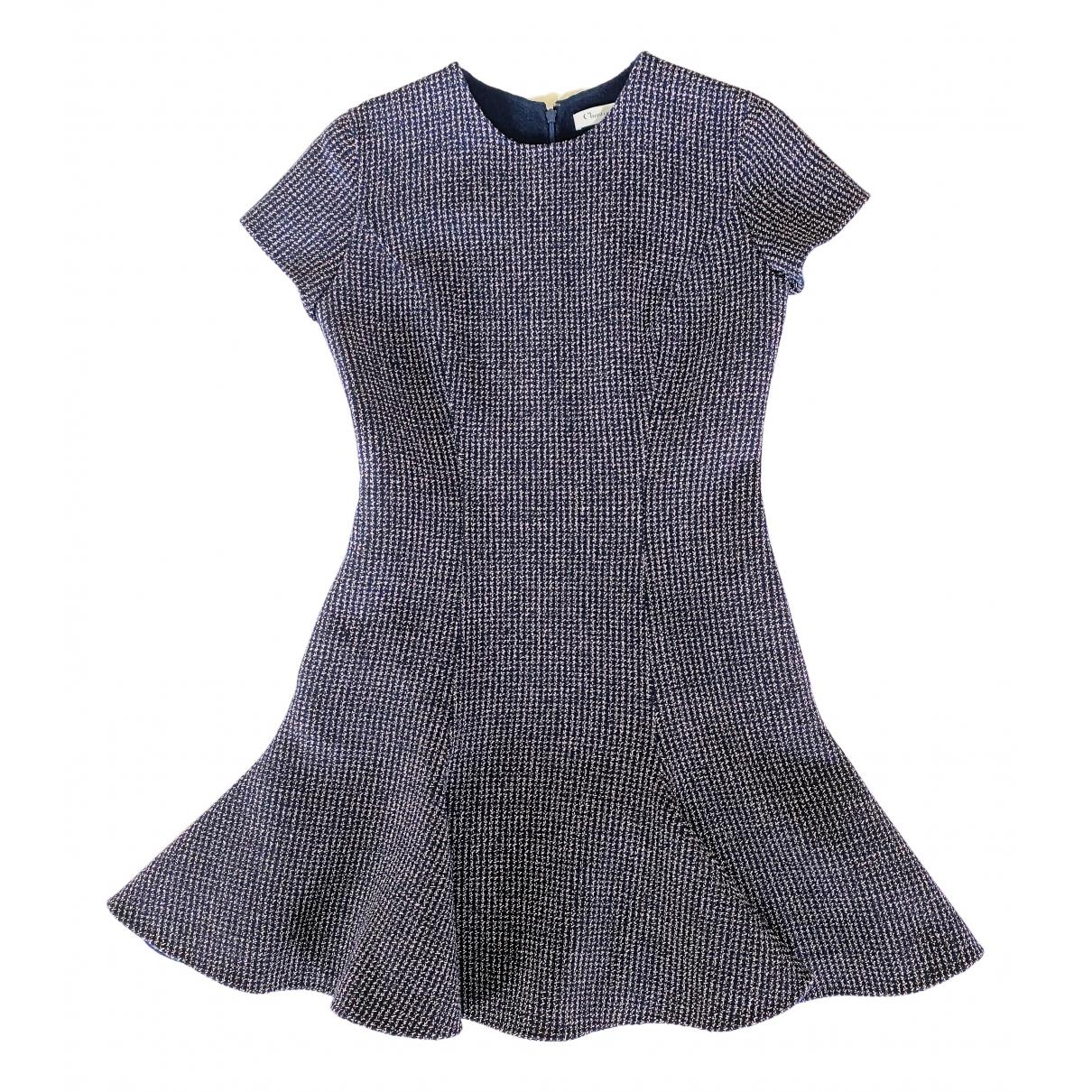 Dior N Navy Wool dress for Women 40 FR