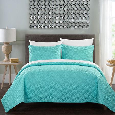 Chic Home Amandla Quilt Set, One Size , Blue