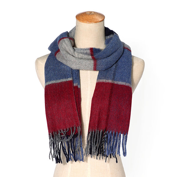 LYZA Warm Blanket Scarf For Women Long Tassel Plaid Scarf Wrap Shawl Cashmere Scarves Winter Shawls