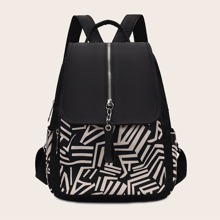Colorblock Flap Backpack