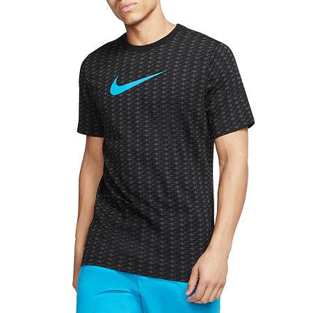 Nike Mens Crew Neck Short Sleeve Moisture Wicking T-Shirt, X-large , Black