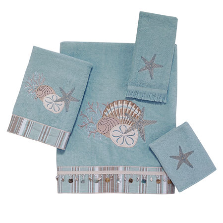 Avanti By The Sea Embroidered Bath Towel Collection, One Size , Green