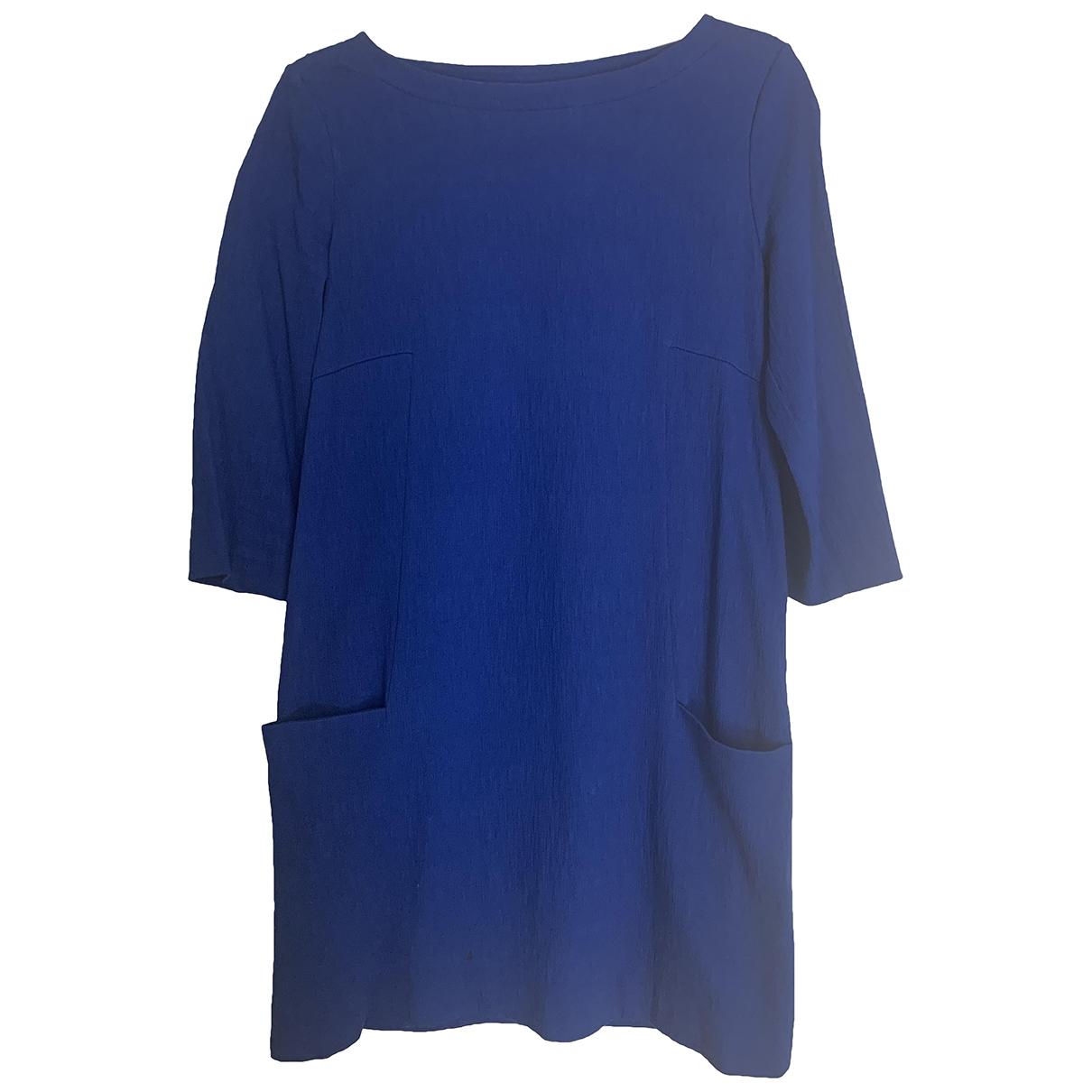 Byblos \N Kleid in  Blau Baumwolle - Elasthan