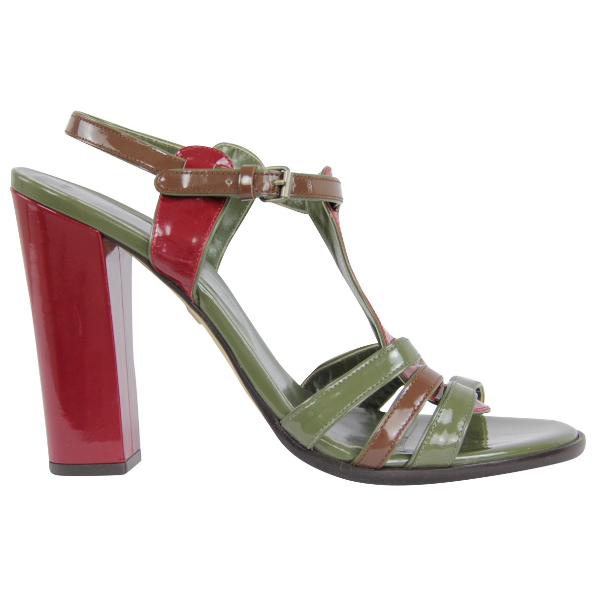 Bally \N Multicolour Patent leather Sandals for Women 39.5 EU