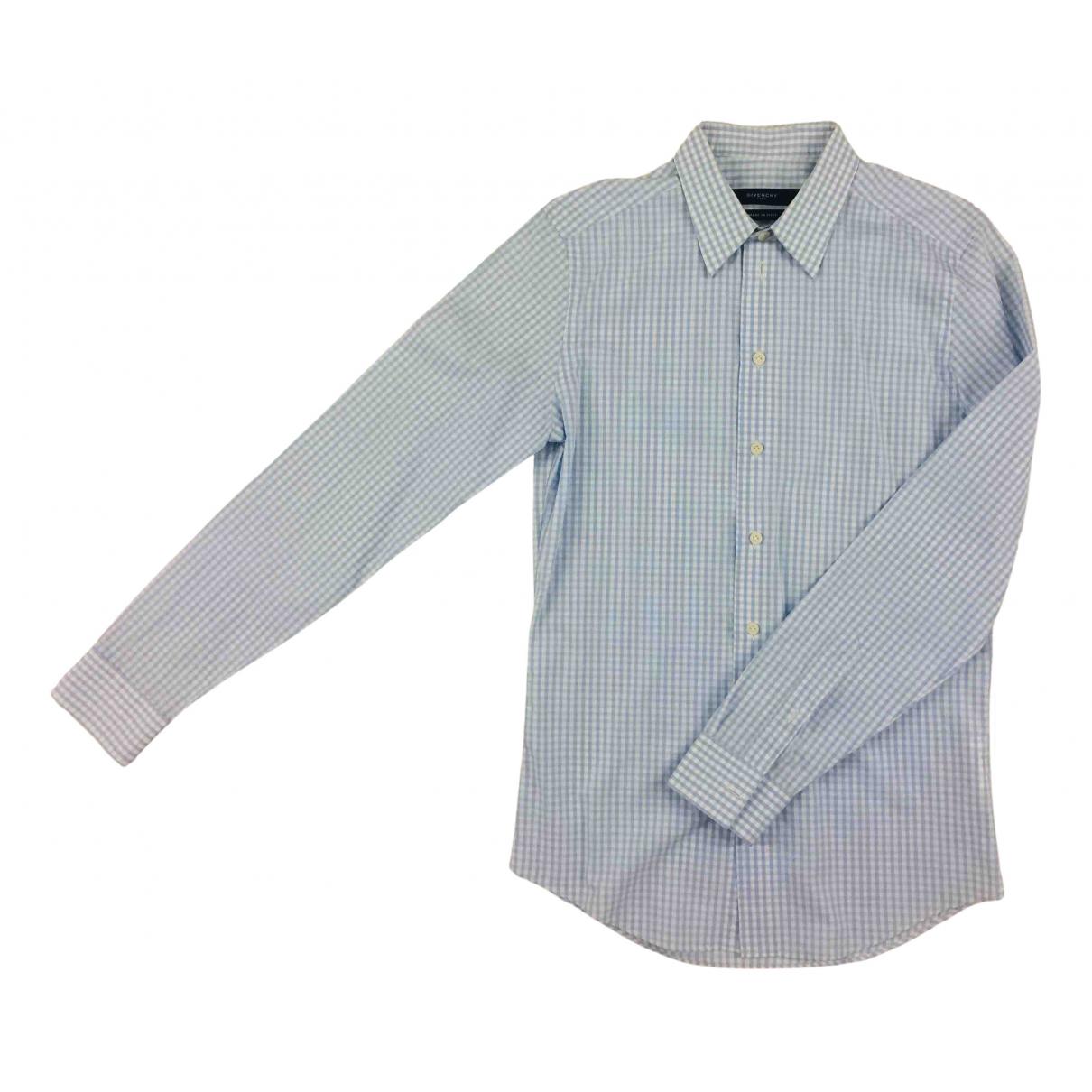 Givenchy N Blue Cotton Shirts for Men 39 EU (tour de cou / collar)
