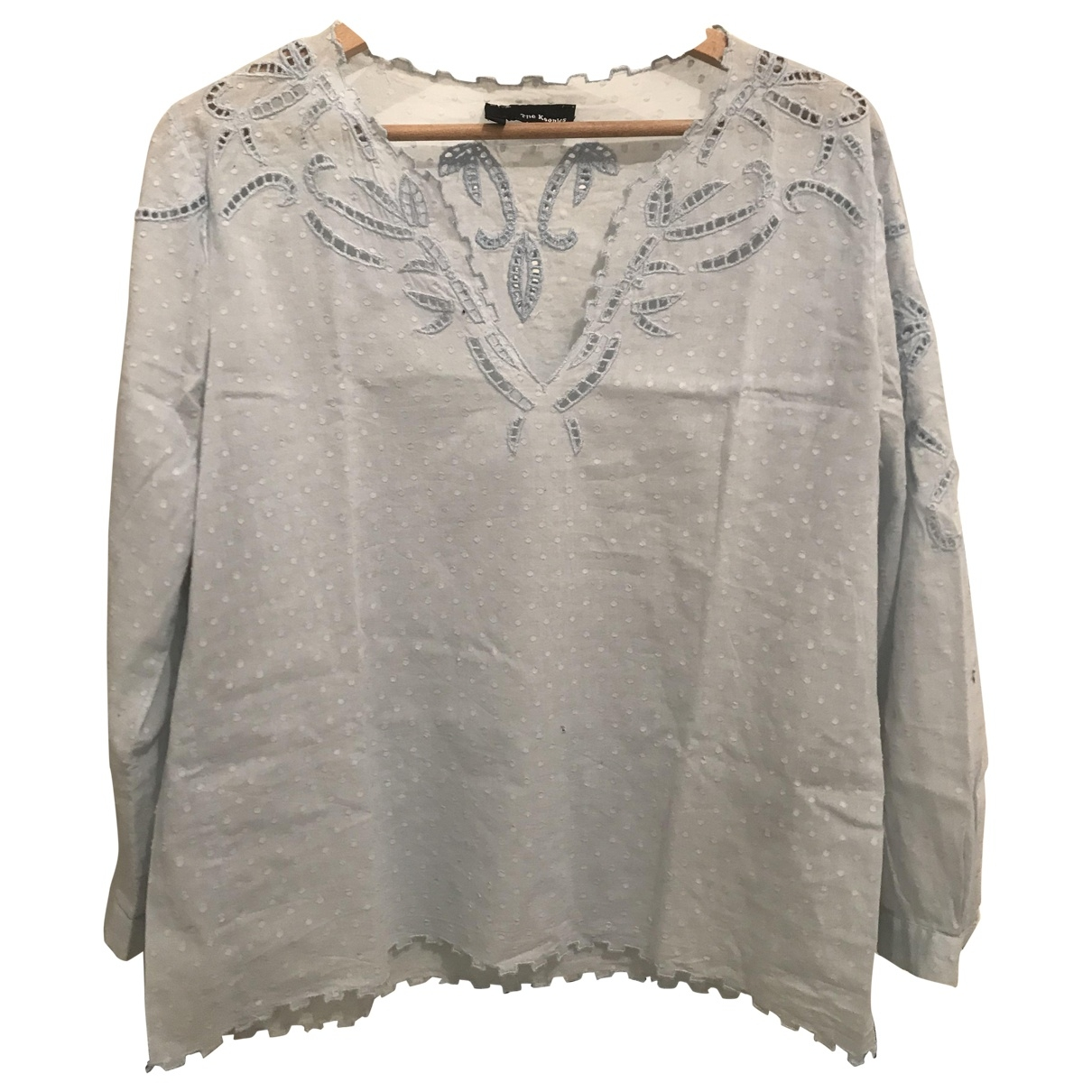 The Kooples \N Blue Cotton  top for Women 34 FR