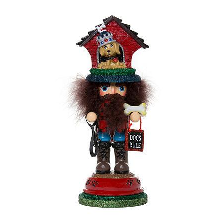 Kurt Adler 13-Inch Hollywood Doghouse Hat Christmas Nutcracker, One Size , Multiple Colors