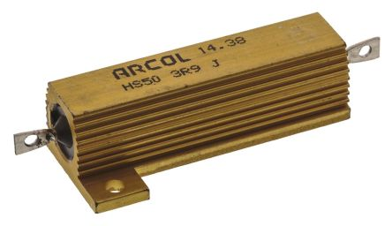 Arcol HS50 Series Aluminium Housed Axial Wire Wound Panel Mount Resistor, 3.9Ω ±5% 50W