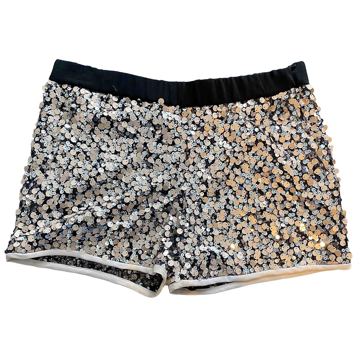 Diane Von Furstenberg \N Black Glitter Shorts for Women 6 US