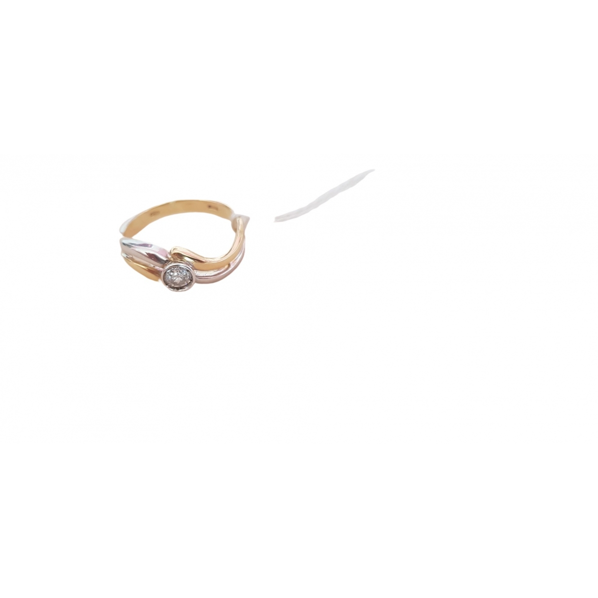 Non Signé / Unsigned \N White White gold ring for Women 54 EU