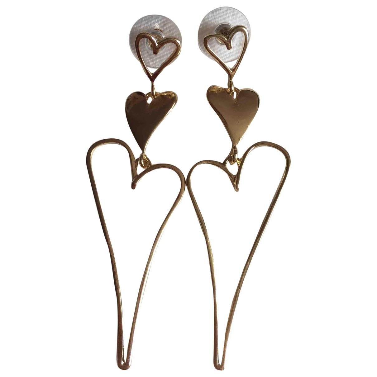 - Boucles doreilles Motifs Coeurs pour femme en metal - dore