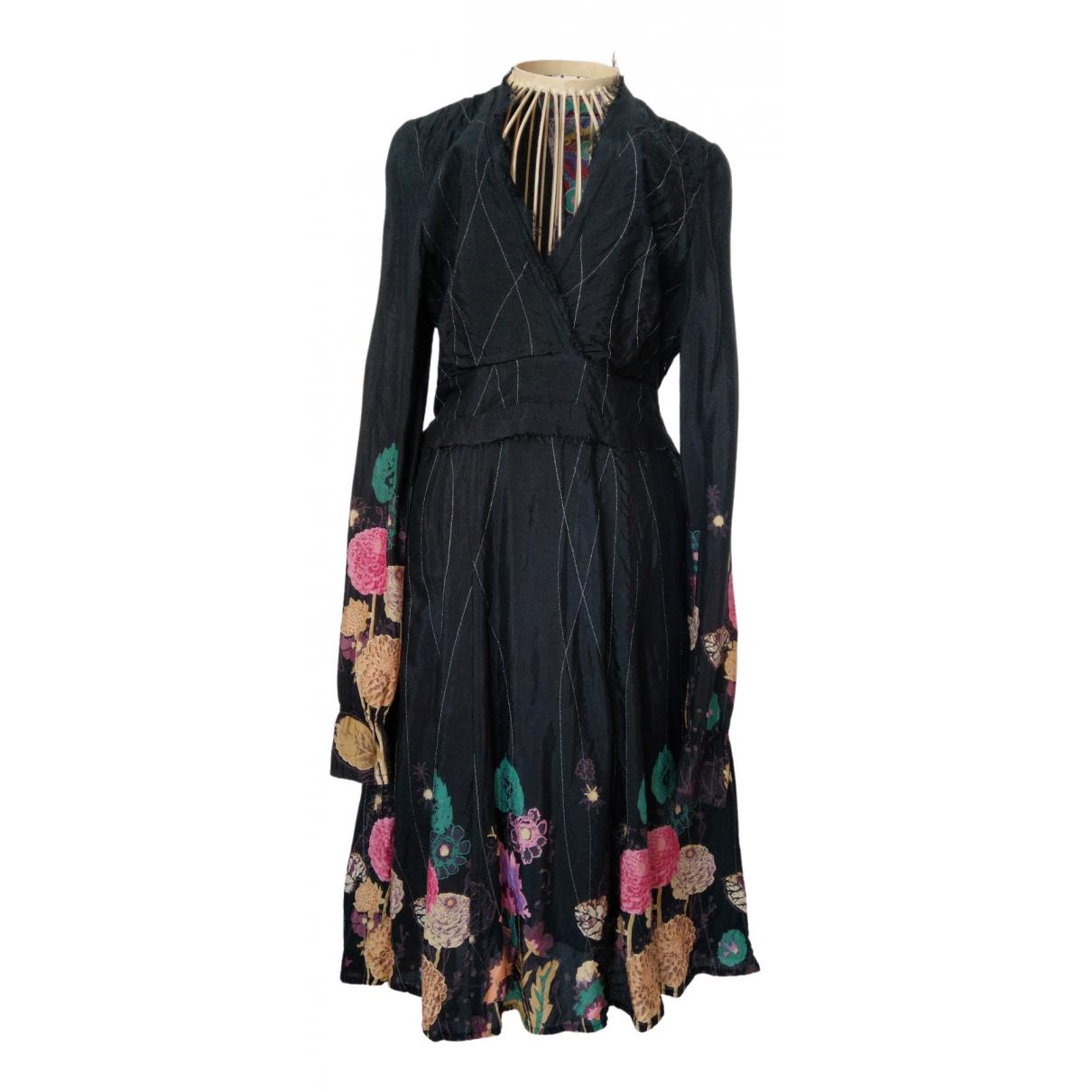 Desigual \N Kleid in  Schwarz Baumwolle