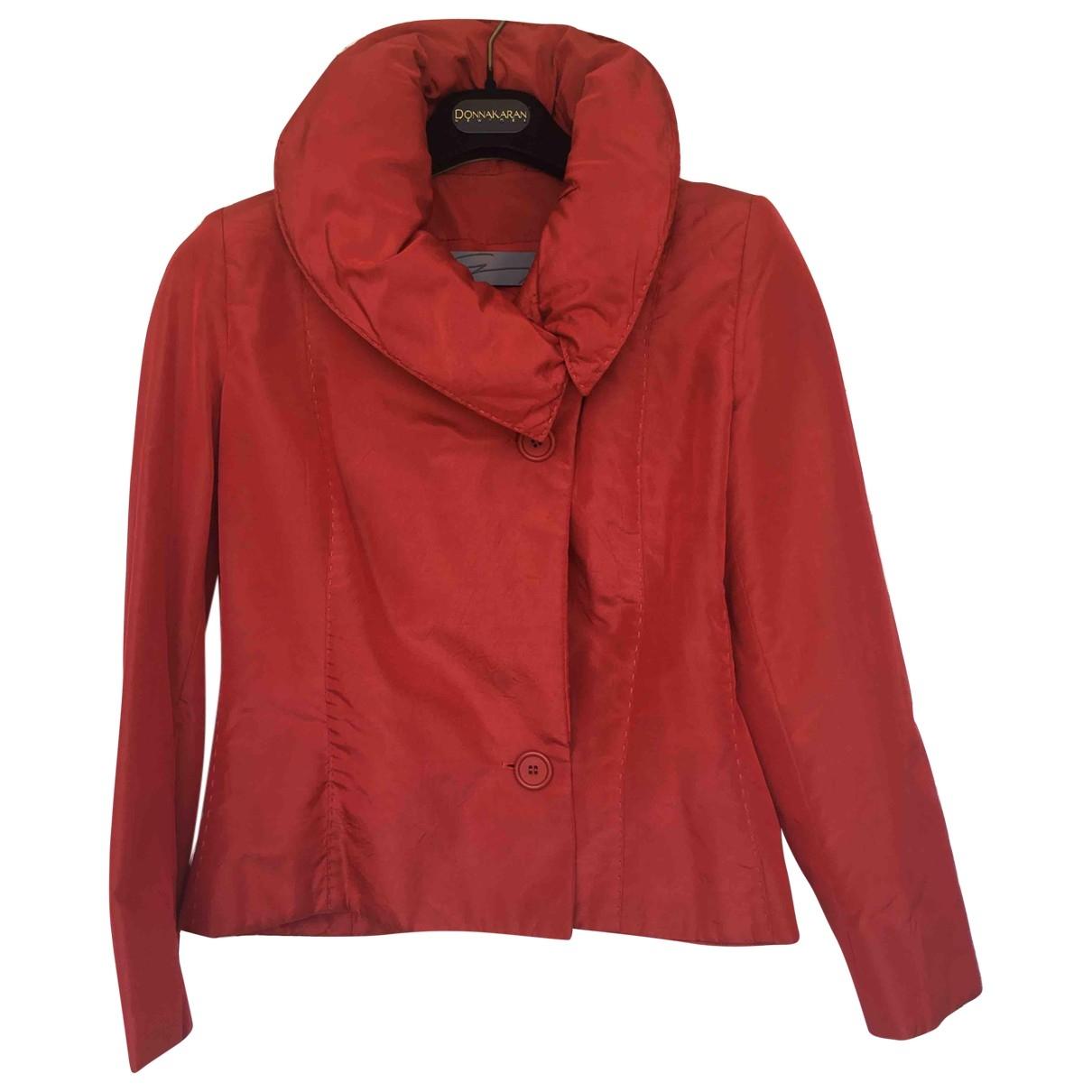 Genny - Veste   pour femme en soie - rouge