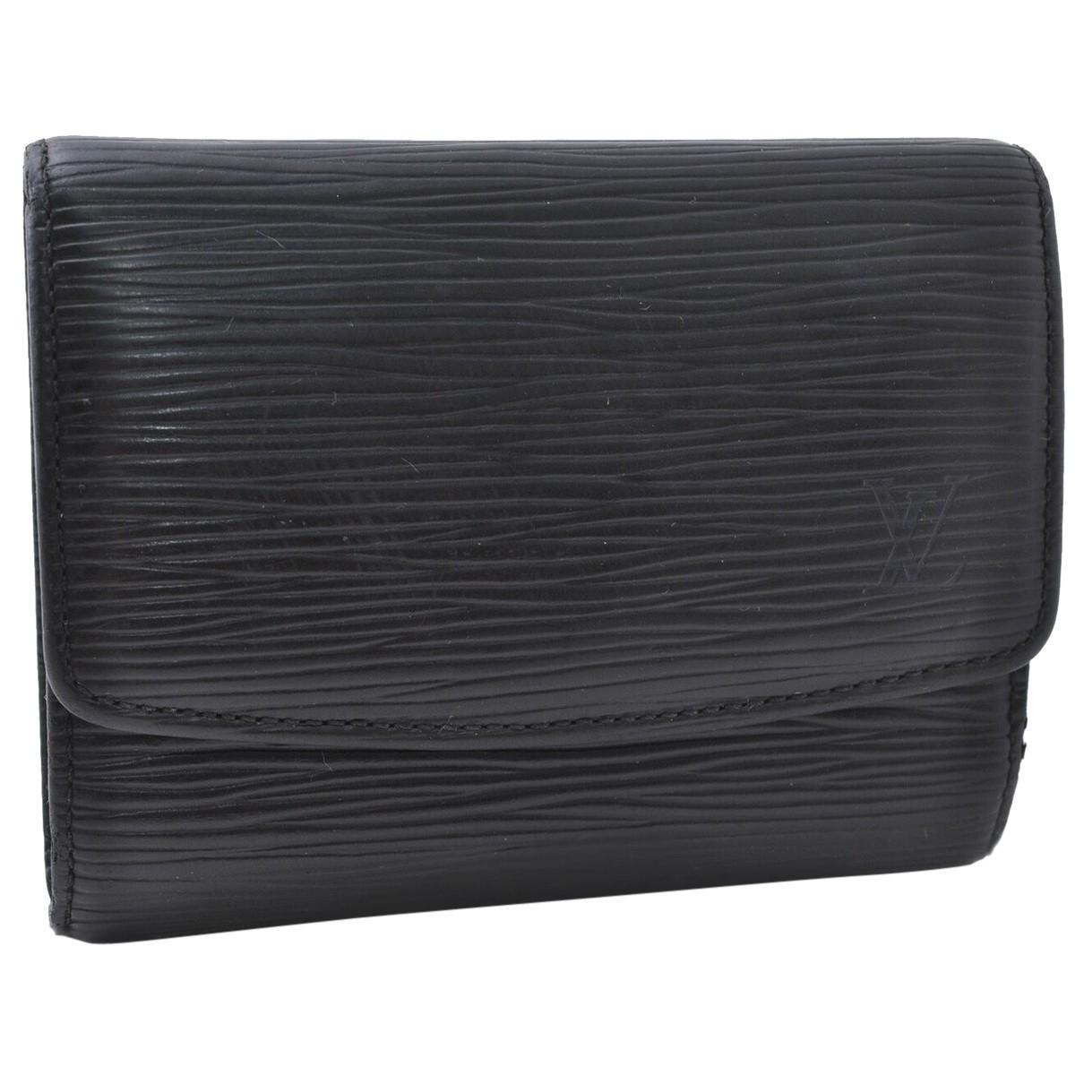Louis Vuitton - Petite maroquinerie   pour femme en cuir - noir