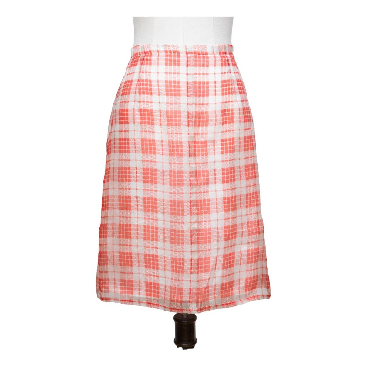 Dries Van Noten \N Orange Silk skirt for Women 36 FR