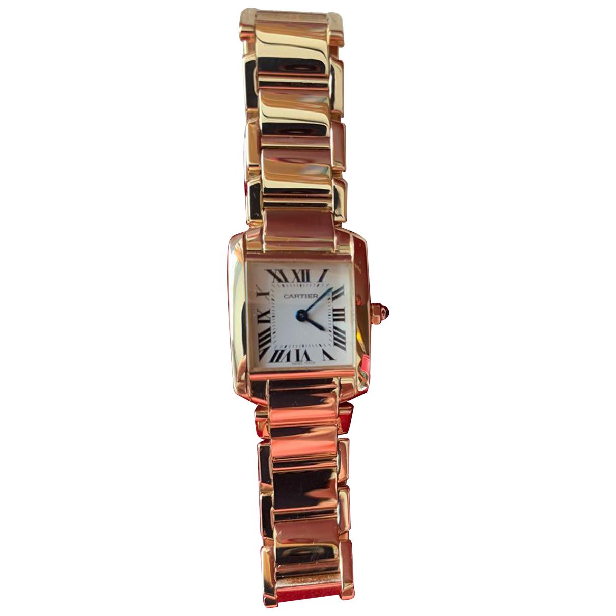 Reloj Tank Francaise de Oro amarillo Cartier