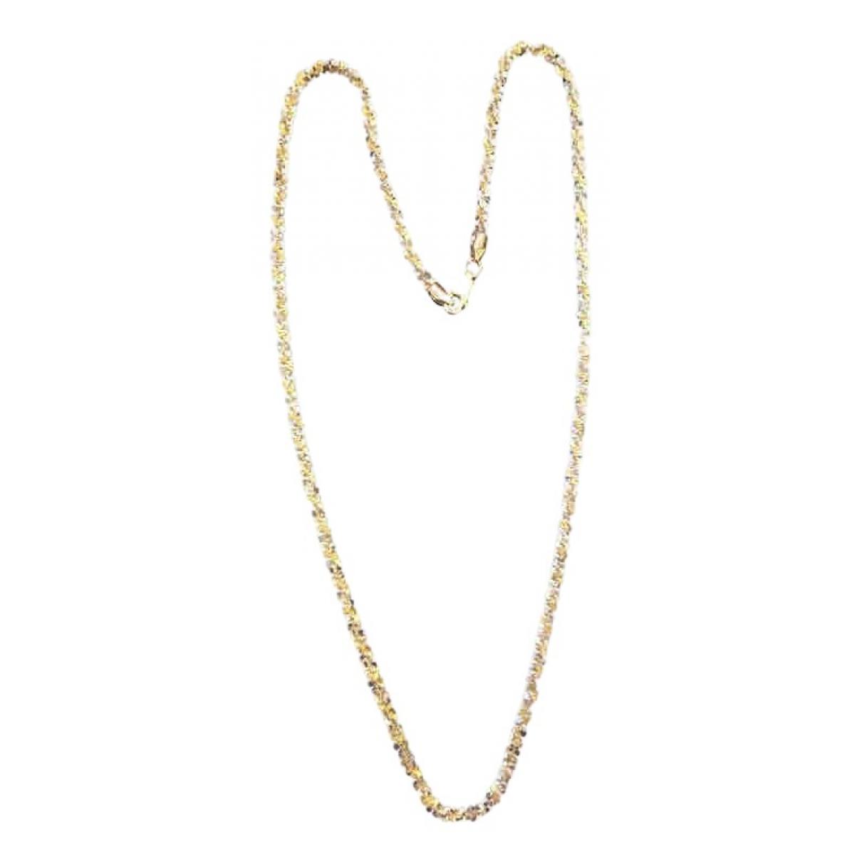 Collar largo Motifs Floraux de Oro amarillo Non Signe / Unsigned