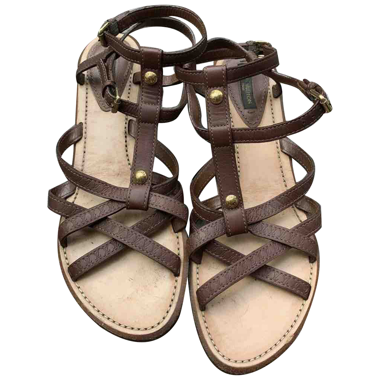 Louis Vuitton \N Brown Leather Sandals for Women 39 EU