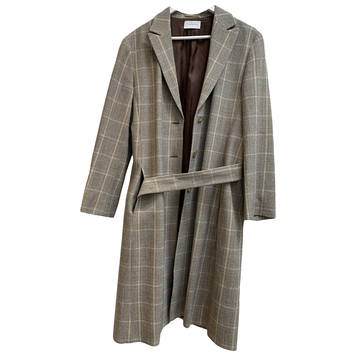 Non Signé / Unsigned \N Beige Wool coat for Women 46 FR
