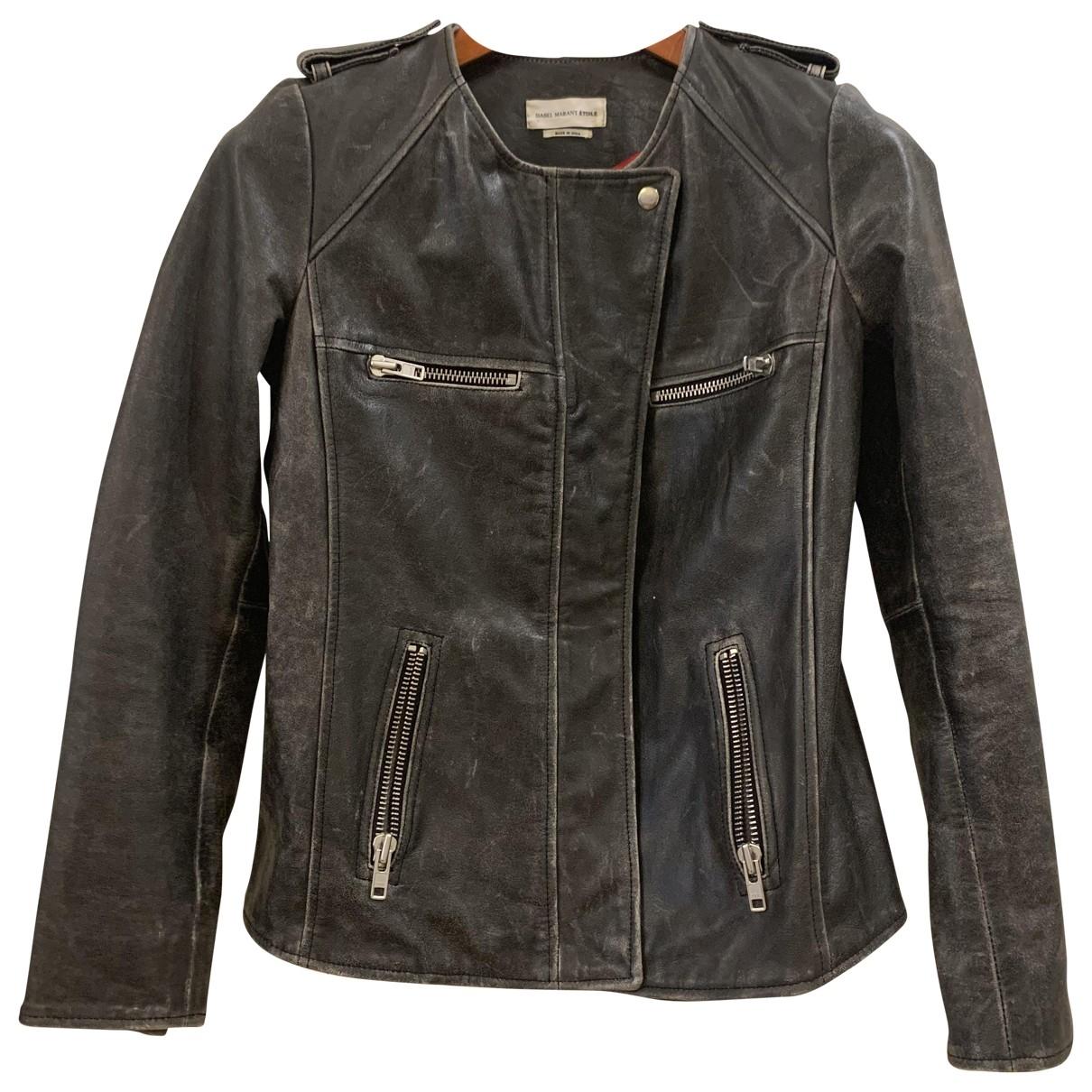 Isabel Marant Etoile \N Grey Leather Leather jacket for Women 38 FR