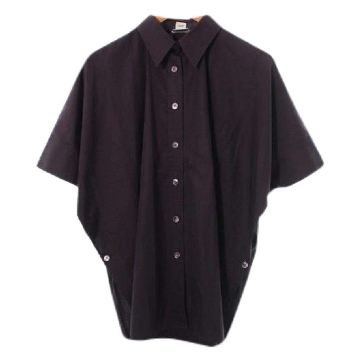 Hermès \N Brown Cotton  top for Women 34 FR