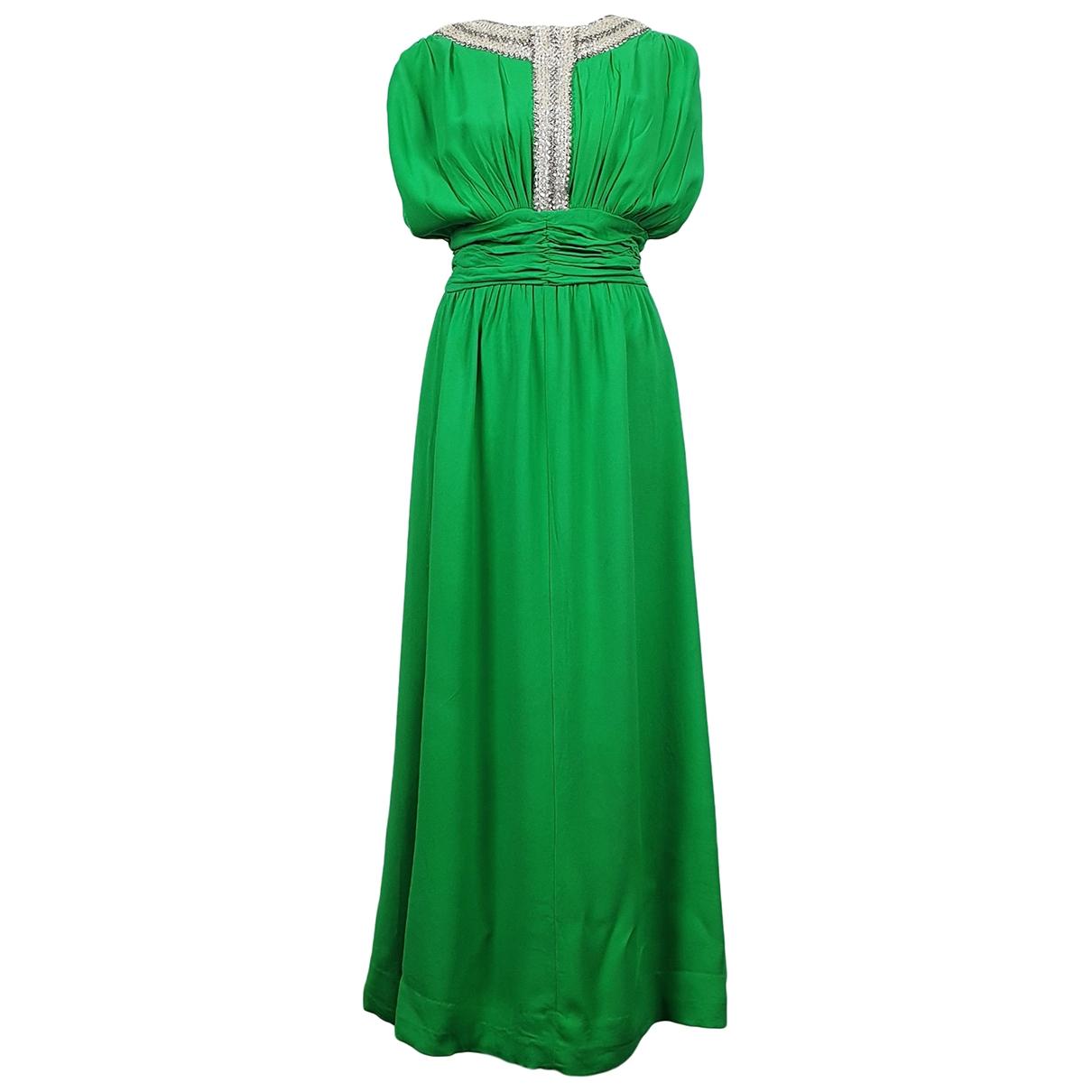 - Robe Epaulettes pour femme en a paillettes - vert