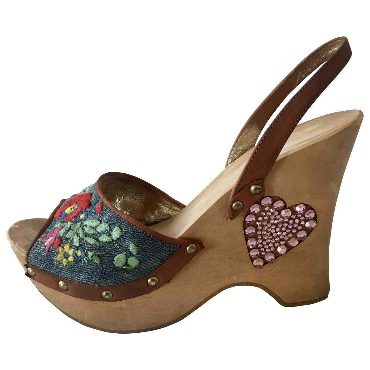 Dolce & Gabbana \N Multicolour Denim - Jeans Sandals for Women 37 EU